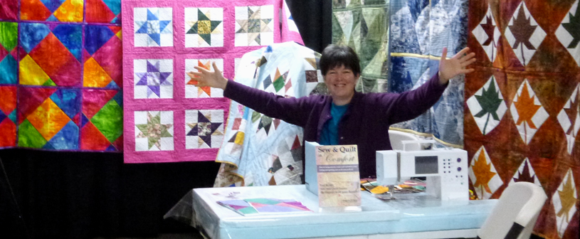 Marguerita McManus at Quilt Show