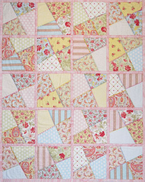 Crazy Shortcake Quilt by Marguerita McManus